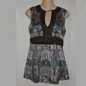 Nanette Lepore Keyhole beaded empire top 4